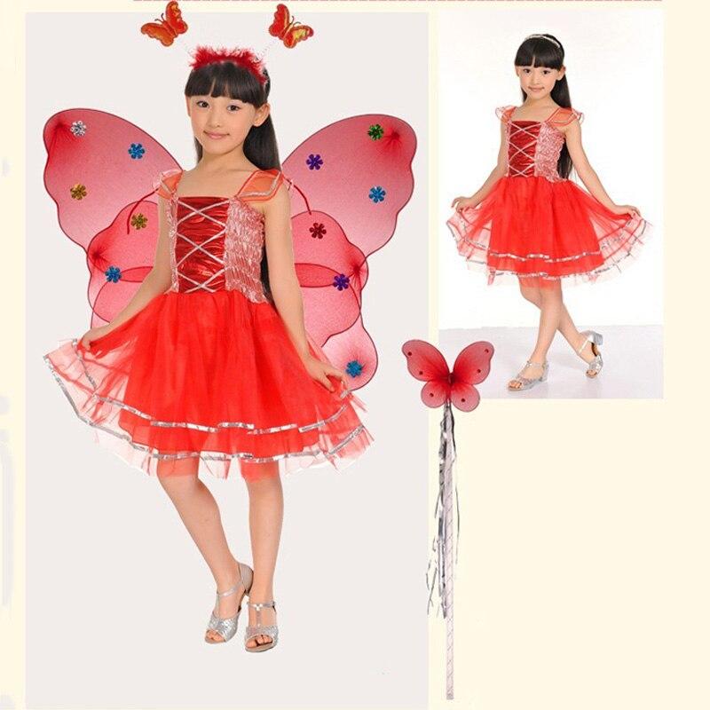 Gyerekek Halloween jelmez pillangó tündér szoknya színes tánc - Jelmezek - Fénykép 3