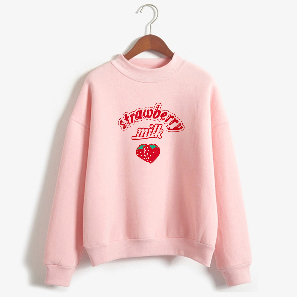 Harajuku Kawaii Strawberry Hoodie Sweatshirt Women 2019 Korean Fashion Kpop Street Style Sweatshirts Schoolgirl Streetwear