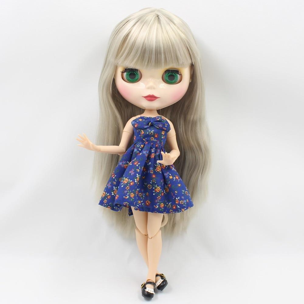 ตุ๊กตาบลายธ์ตุ๊กตา BL3167 สีเทาตรงผม joint body 1/6 30 ซม.bjd-ใน ตุ๊กตา จาก ของเล่นและงานอดิเรก บน   2