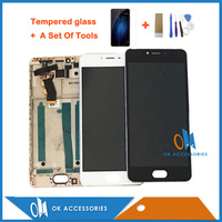 For Meizu M3S LCD Display Touch Screen Digitizer Assembly With Frame White Black Color 1PC Lot