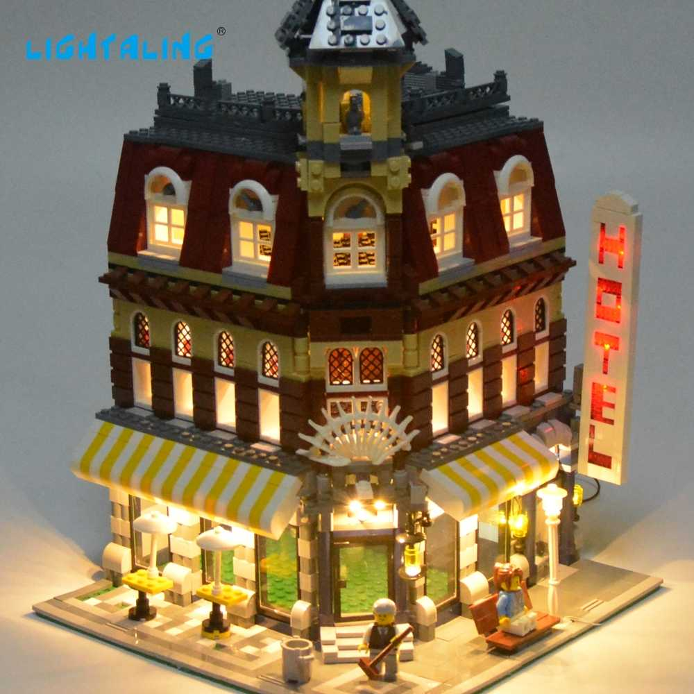 Lightaling LED Light Set For Famous Brand 10182 Make & Create Cafe Corner Model Kit Blocks Toy