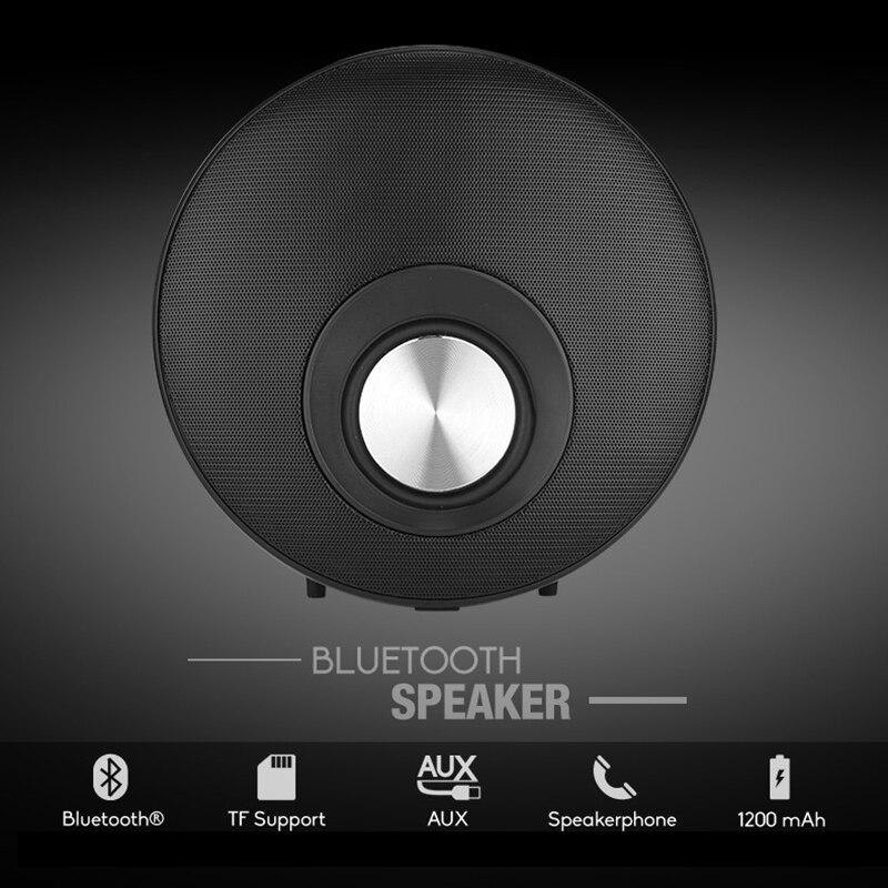 DOITOP 3D Surround Loudspeaker with Hands-free Mic Round Super Low Bass Bluetooth Speaker HIFI Subwoofer Support TF Card Speaker ewa d502 8w bluetooth v2 1 speaker w hands free mic 3 5mm tf usb sky blue