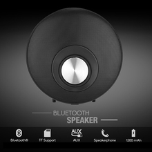 DOITOP 3D Surround Loudspeaker with Hands-free Mic Round Super Low Bass Bluetooth Speaker HIFI Subwoofer Support TF Card Speaker