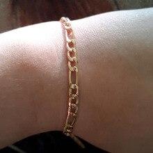 54c8d32e28ad Simple Figaro cadena tobillo pulsera pie joyería Simple oro plata cadena  playa cadenas tobilleras joyería para