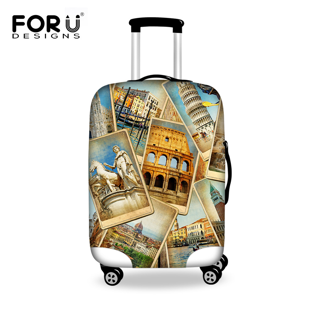 FORUDESIGNS Travel Luggage Protective Covers Elastic Stretch Spandex Luggage Rain Dust Cover Apply To 18-30 Inch Trolley Case