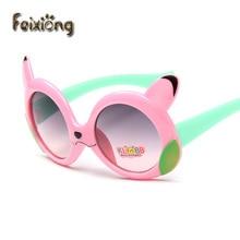 FEIXIONG Baby Boys Girls Kids Sunglasses Vintage Round Sun Glasses Children Arrow Glass UV Protection Oculos De Sol Gafas infant