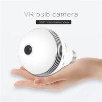 Светодиодные лампы E27 1080 P HD лампочки Беспроводной IP Камера Wi-Fi Fisheye 360 градусов панорамный мини лампы Wi-Fi Камера видеонаблюдения