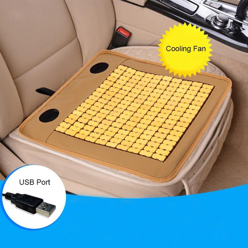 Été voiture électrique refroidissement siège bureau maison bambou Cool Mat respirant Air vent Ventilation refroidissement Massage coussin