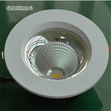 Free Shipping COB white shell 15W Dimmable High Power Led Downlights Recessed Ceiling downLights With Drivers AC85-265V