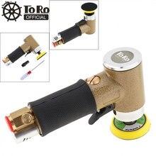 TORO 2 Inch 12000rmp Straight Heart High-speed Industrial Pneumatic Sanding Machine with Push Switch Sanding Pad for Polishing