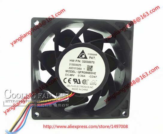 Free Shipping For DELTA QFR0948GHE , -CD47 DC 48V 0.39A, 90x90x38mm 4-wire Server Square Cooling Fan free shipping for delta pfb0848dhe ck2a dc 48v 1 00a 80x80x38mm 4 wire server square cooling fan