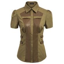 Женская готическая блузка, винтажная рубашка, летние топы, Ренессанс, стимпанк, короткий рукав, квадратный воротник, плиссированные плечи, рубашка для девушек