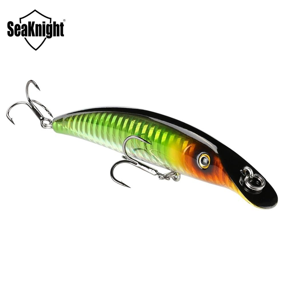 Sk024 seaknight minnow fishing lure 1 pcs 9mm 98mm 0-1 m quality Bait Plastic Artificial Hard Fish Lures