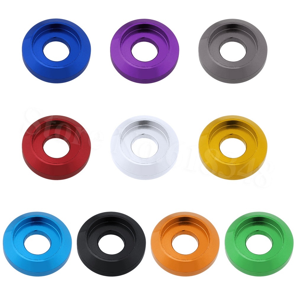 Hobbypark 8-Pack Aluminum M5 Screws Washers Countersunk Flat Head Bolts Hardware for RC Models Purple