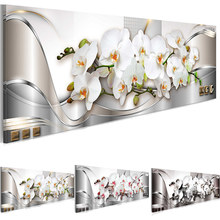 White Orchids Flowers Posters and Prints Floral Wall Art Modern Canvas Painting Pictures for Living Room Bedroom Home Decoration