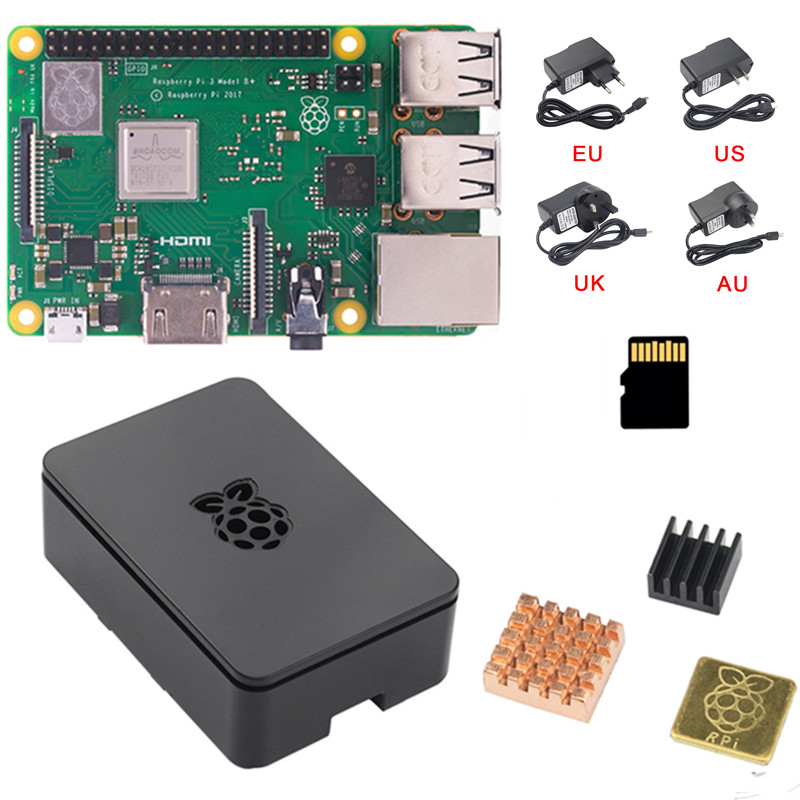 New Raspberry Pi 3 B B Plus Kit Quad Core 1 4GHz 64 bit CPU With