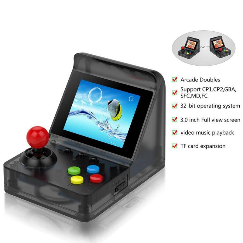 Image 4 - Powkiddy 3 Inch 320 x 240 A7 Game Console Retro Game Player 32Bit Built In 520 Classic Games Support Doubles And Tf Card Max 3-in Handheld Game Players from Consumer Electronics