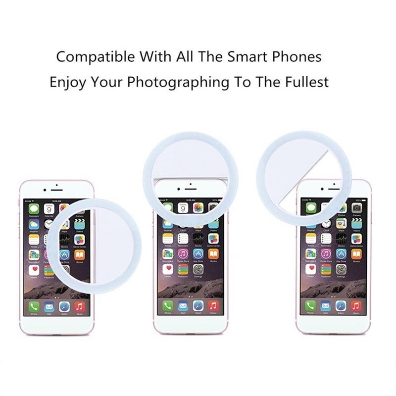 Selfie Lamp Camera Lens Smartphone
