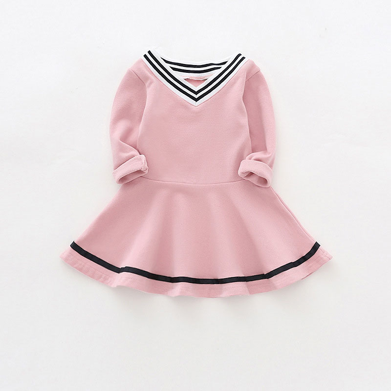 Baby girl dresses with long sleeves children kids clothes cotton toddler girls dress winter 2017 V-Neck clothing 0-4 years new girl dresses winter kids dress for girls flower baby girl dresses clothes long sleeve beautiful children dresses girls new 2017