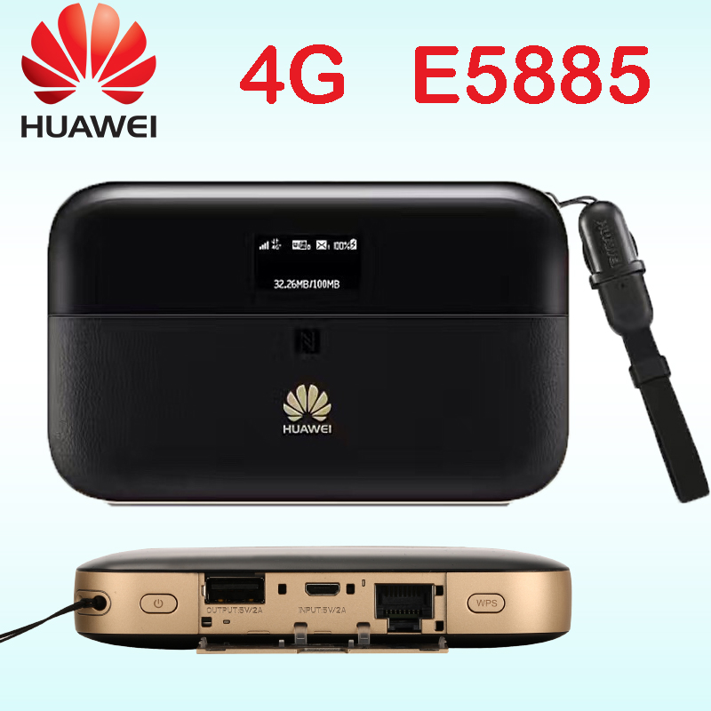 Unlocked Cat6 Huawei E5885 300mbps 4g Wifi Router 4g Wi-fi Router Mobile WiFi PRO 2 Wiith Rj45 Power Bank E5885Ls-93a Cat6