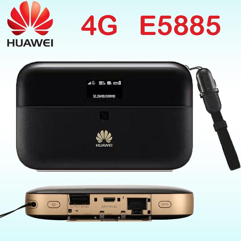 Desbloqueado Huawei E5885 300 mbps cat6 4g router wi-fi 4g wi-fi Móvel roteador Wi-fi PRO 2 wiith rj45 banco do poder E5885Ls-93a Cat6