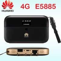 Desbloqueado cat6 Huawei E5885 300 mbps 4g wifi router 4g router Wi-Fi WiFi móvil PRO 2 con rj45 banco de la energía de E5885Ls-93a Cat6