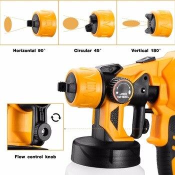 DEKO DKSG55K1 Elektrische Spritzpistole 220V 500W Hochdruck Airbrush 3 Düse Hohe Zerstäubung Spray Farbe Werkzeug-in Spritzpistolen aus Werkzeug bei