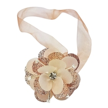 1pc European Flower Curtains Tieback Magnet Buckle Magnetic Curtain Holder Rhinestones Strap Accessories