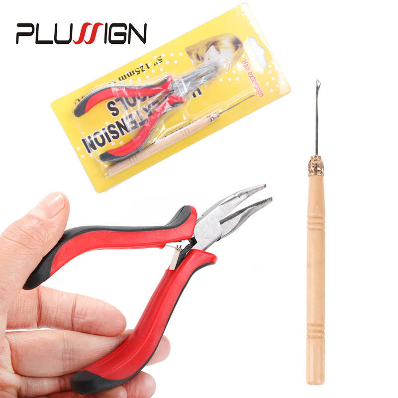 Кератиновый клей для удаления кератиновых плоскогубцев инструменты для наращивания волос с плоским наконечником тянущий Крюк Инструмент для колец петля микропричальный бисер плоскогубцы