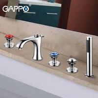 GAPPO bañera grifo baño cascada montado cubierta ducha mezclador grifo baño cabeza de ducha bañera grifos de ducha