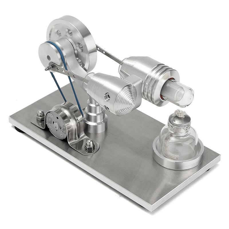 Mini Kit d'expérimentation de Science de jouet éducatif de modèle de moteur d'agitation d'air chaud d'acier inoxydable réglé pour des enfants