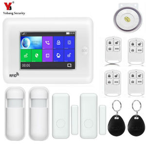 "Image 5 - Yobang Security 4.3"" WiFi APP GSM Intruder Burglar Alarm Wifi IP Camera Protection Home Alarm Security SMS Alert SOS Panic Alarm"