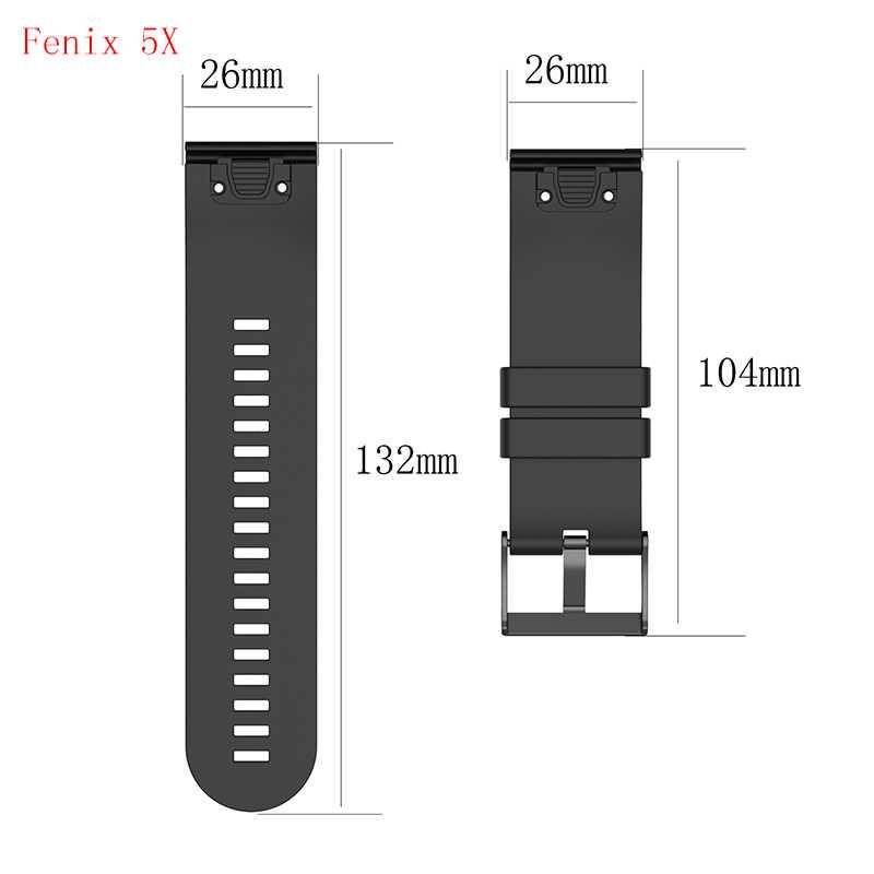 Fivstr 26 22 20 мм силиконовый ремешок для смарт-часы с датчиками Fenix 5X5 5S плюс 3 3HR D2 S60 Quick Release, отлично подходит для ремешки на запястье
