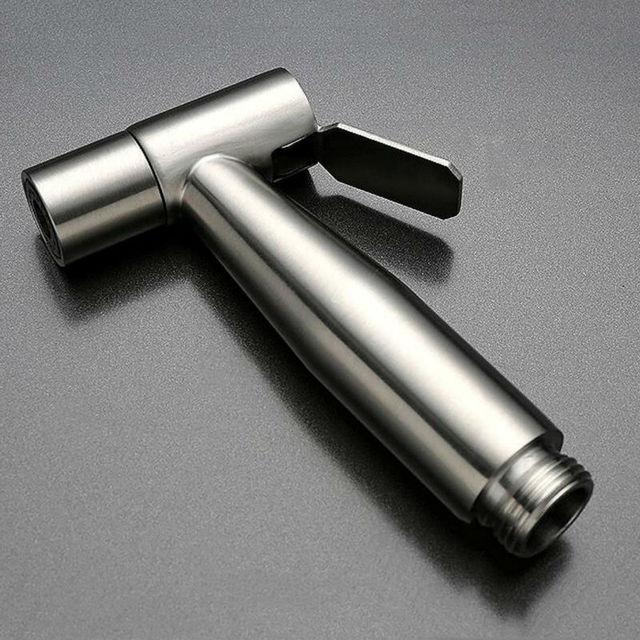 Handheld Bidet Spray Shower Set Toilet Shattaf Sprayer Douche kit Bidet Faucet,Brushed Nickel, 304 Stainless Steel