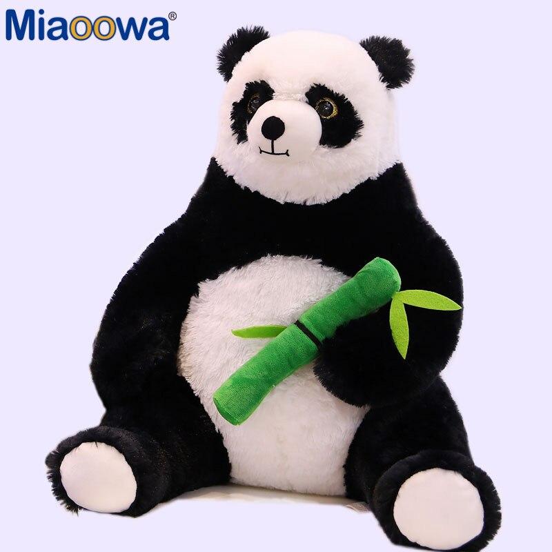 1pc 50cm Fat Cartoon Panda Hugging Bamboo Plush Toys For Children Kawaii Soft Animal Doll Kids Kawaii Gift Girls Lovely Pillow