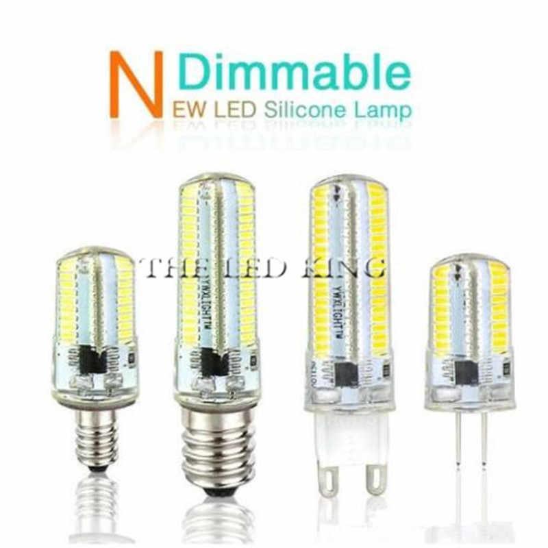 Led G4 SMD reemplaza luces de iluminación halógenas G9 E14 bombilla de atenuación CA cc 12V 220V 3W 5W 9W 15W proyector de araña