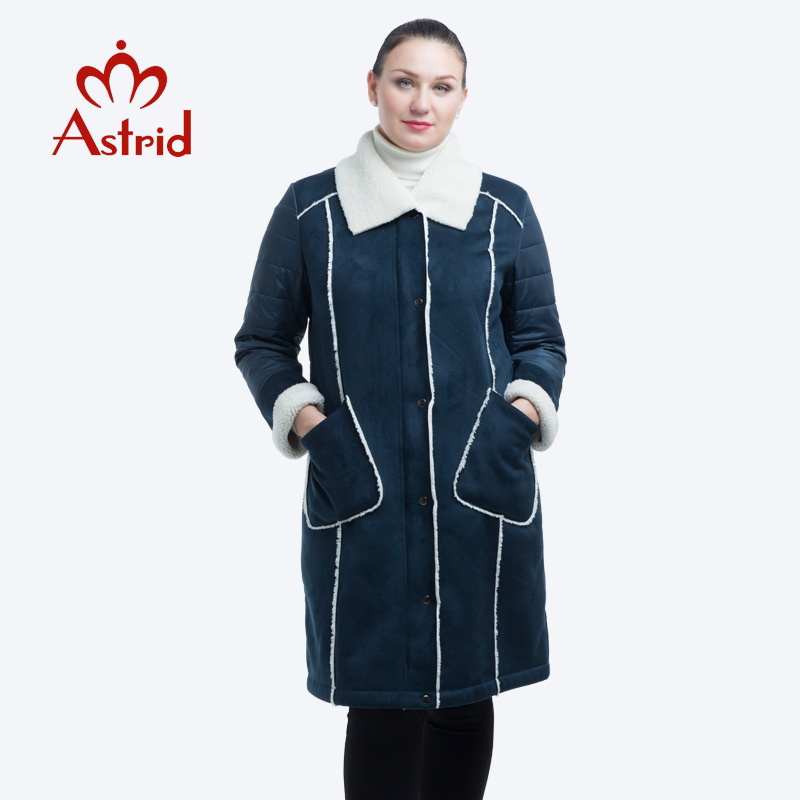 2019 Astrid new winter jacket women plus size jacket parka solid leather clothes women winter coat