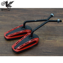 Professional modification accessorie motorcycle parts motorbike rearview mirror unviersal colorful decal red yellow sliver black