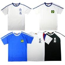 Anime  Captain Tsubasa T shirts Ozora Tsubasa Jersey Cotton T Shirts Cosplay Costumes Kojiro Hyuga Short Sleeve Tops Tees