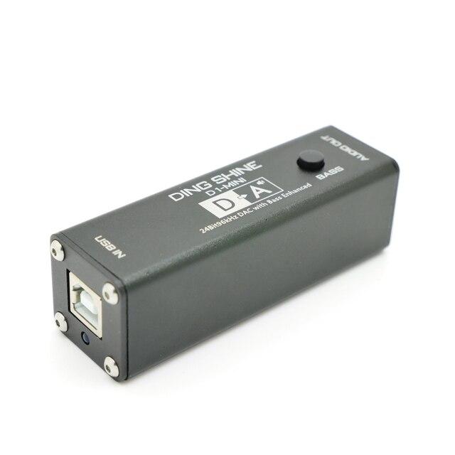 D1 Mini VI1620A Hifi Usb Dac Audio Hoofdtelefoon Versterker Decoder Pc Externe Geluidskaart 24Bit 96Khz Bass Verbeterde