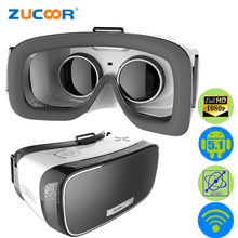 ZV21 All In One 3D VR BOX Virtual Reality Video Game Movie Glasses Google Cardboard WiFi Head Mount Helmet Android 5.1 + Gamepad