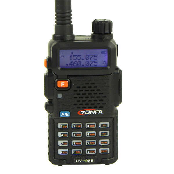 2016 Walkie Talkie Dual Band 8W 128CH UV-985 VOX DTMF Offset Two Way Portable Radio Interphone Transceiver  A1002A