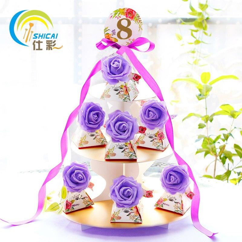 ลูกอมกล่องรักต้นไม้รวมสูท/กรวยกล่องของขวัญสร้างสรรค์บุคลิกภาพลูกอมกล่องตกแต่งงานแต่งงา...