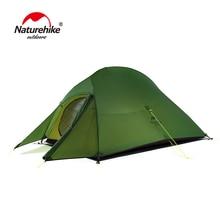Naturehike Cloud Up 2 Сверхлегкая палатка для пеших прогулок 20D/210 T ткань палатки для кемпинга для 2 человек с бесплатным ковриком NH17T001-T