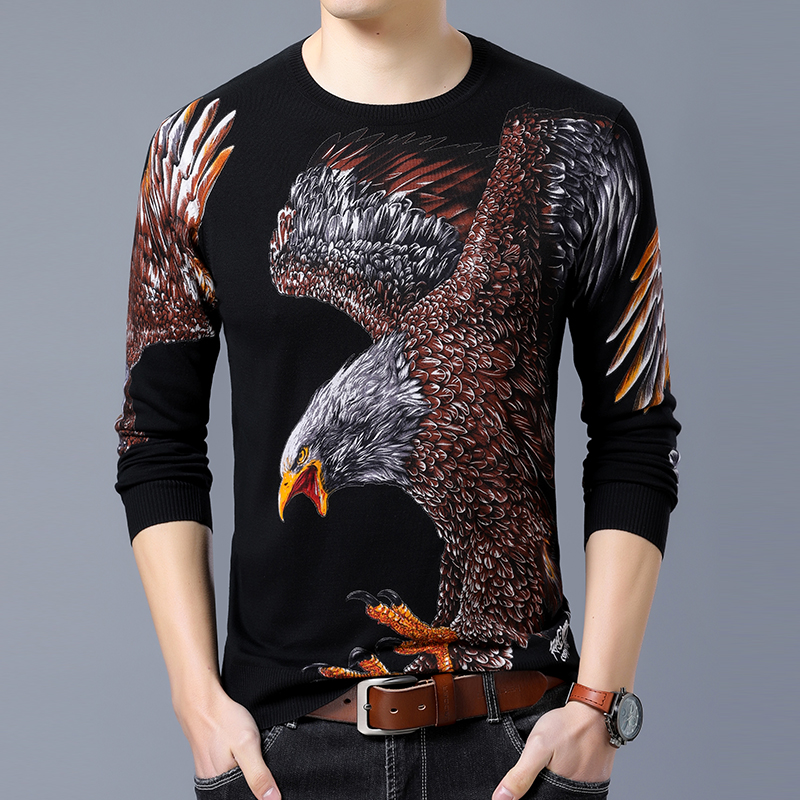 Pullover Men Sweaters 2020 New Autumn Winter Men's Sweater Chinese Style Pattern Cashmere Long Sleeve Sweater Men Pull Homme