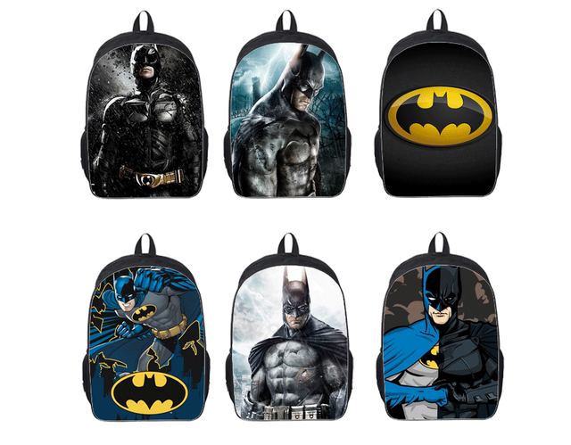 7904d8777093 16-inch Mochila Batman Bags For School Boys Batman Backpack Cool Kids School  Bags For Teenagers Children Daily Backpack