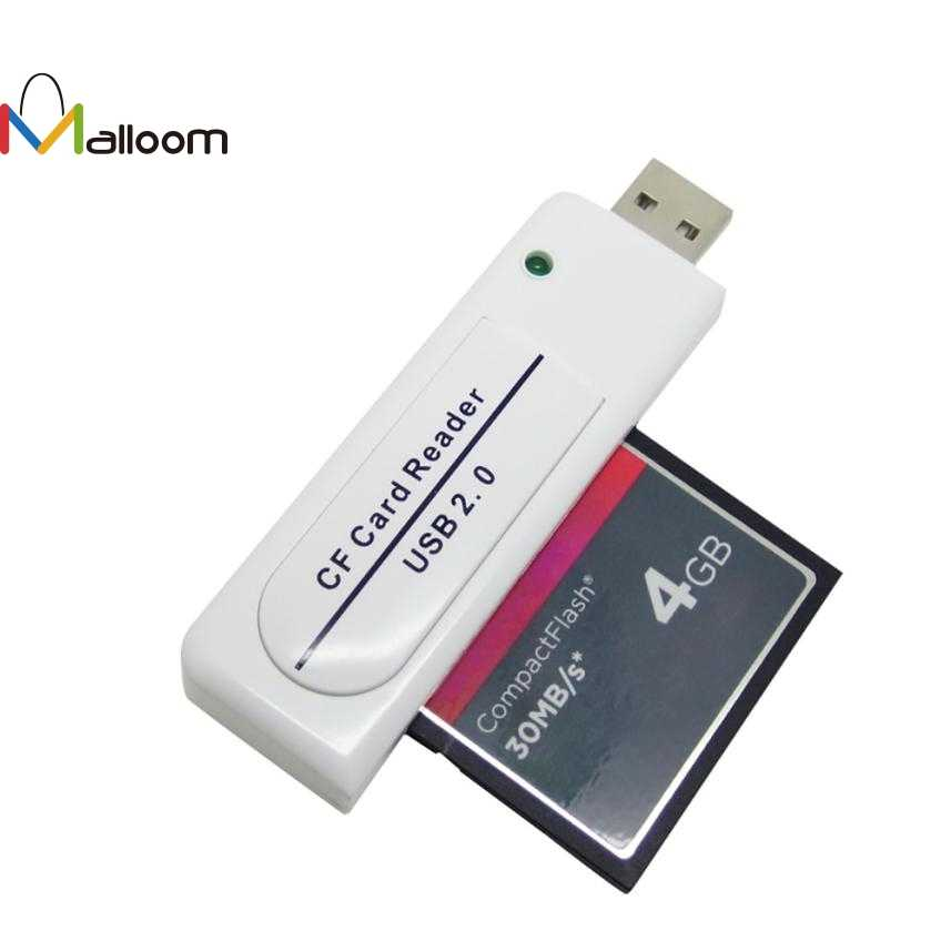 Malloom 2018 New Arrival PC Accessories High Speed USB 2.0 CF Card reader Compact Flash USB Card Reader for PC Computer