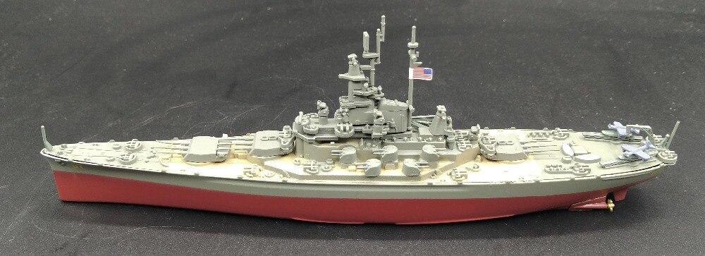 Offre spéciale rare 1:1000 seconde guerre mondiale armée américaine Dakota du sud BB-57 modèle de navire de guerre en alliage modèle de produit fini