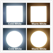 3W/6W/9W/12W/15W/18W LED ceiling led downlight square/round panel light bulb AC110V 220V Warm /Cool white,indoor lighting