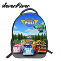 13 Inch Robocar Poli Shoulder Bag Children Cartoon School Bags Kids Kindergarten Backpack Boys Mochila Infantil Schoolbag